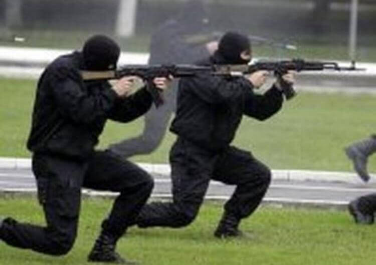 Spetsnaz Alpha Group in operazione di anti terrorismo
