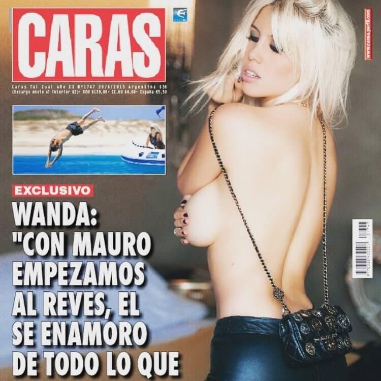 Wanda su Caras la copertina