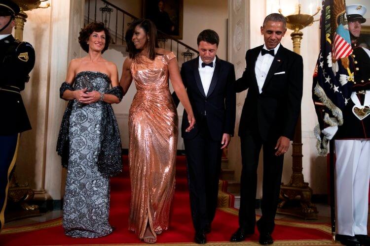 Agnese Renzi Michelle Obama Matteo Renzi Barack Obama Casa Bianca