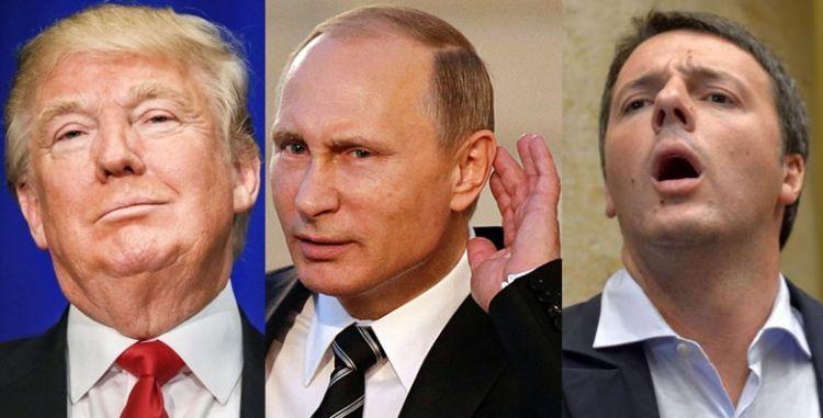 Donald Trump, Vladimir Putin e... Matteo Renzi