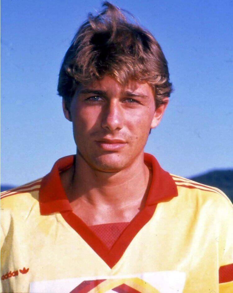 Antonio Conte ai tempi dell'esordio in Serie A