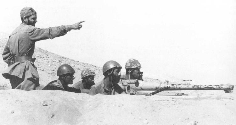 El Alamein Battaglia, una postazione controcarro della Folgore