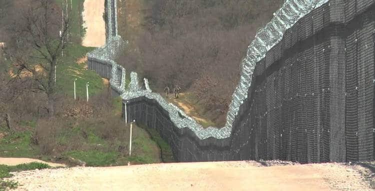 Muro al confine tra Bulgaria e Turchia