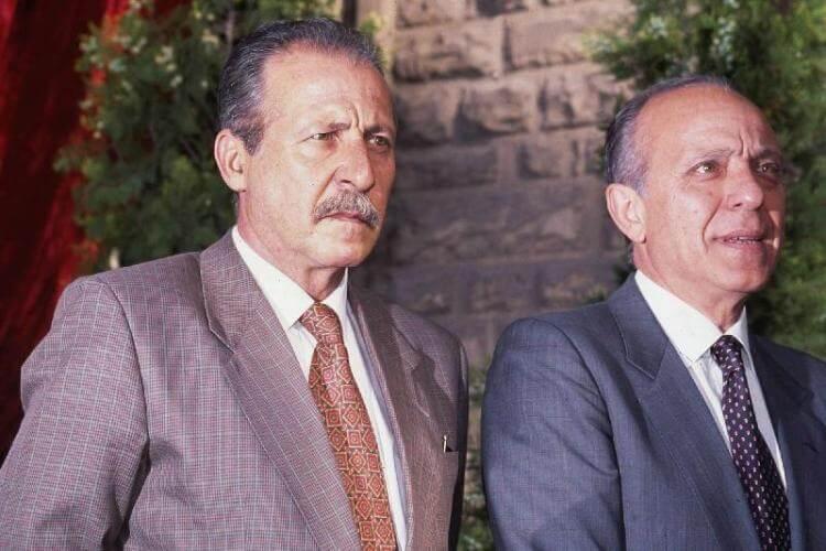 Paolo Borsellino con Pietro Giammanco