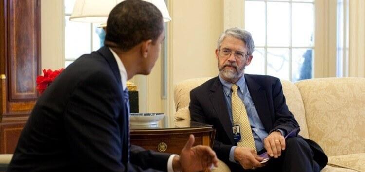 Holdren e Obama nello Studio Ovale scie chimiche