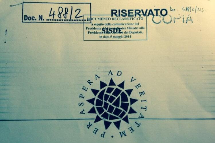 Un documento riservato del Sisde
