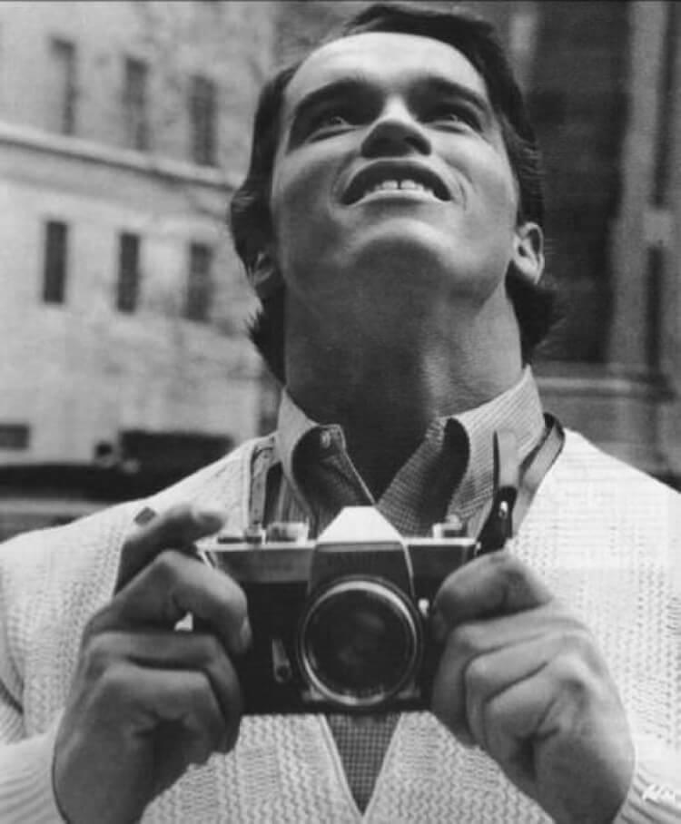 Arnold Schwarzenegger che vede New York per la prima volta. 1968