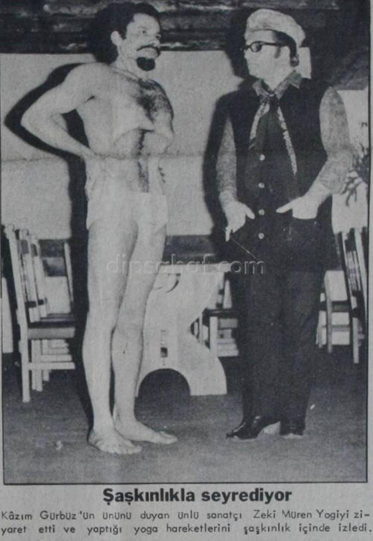Kazim Gurbuz sui giornali quando era giovane