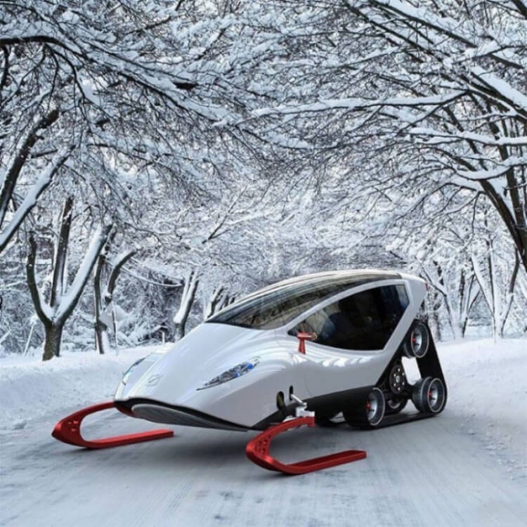 Lo Snow Crawler, che potremmo chiamare la Lamborghini delle moto da neve.