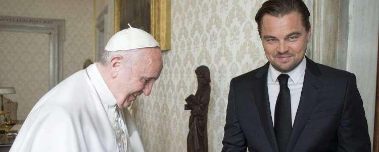Leonardo Di Caprio incontra Papa Francesco