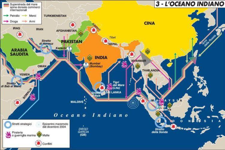 La mappa della lotta alla pirateria