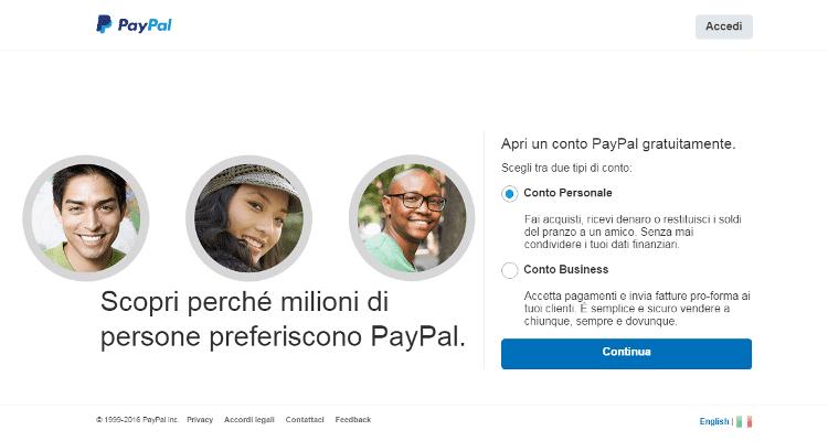 Come funziona Paypal, apertura conto login accedi