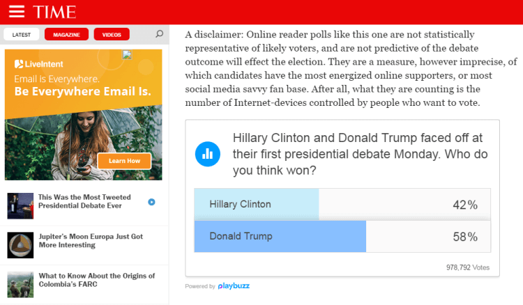 Trump vince il primo dibattito contro Clinton