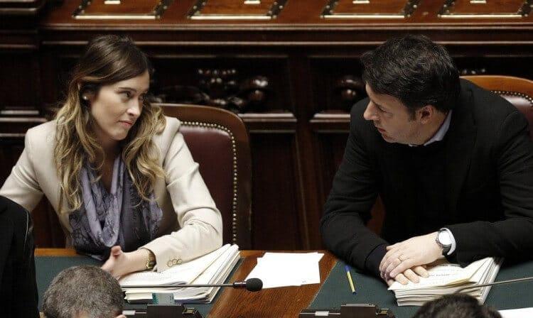 renzi e boschi coppia glamour politica italiana