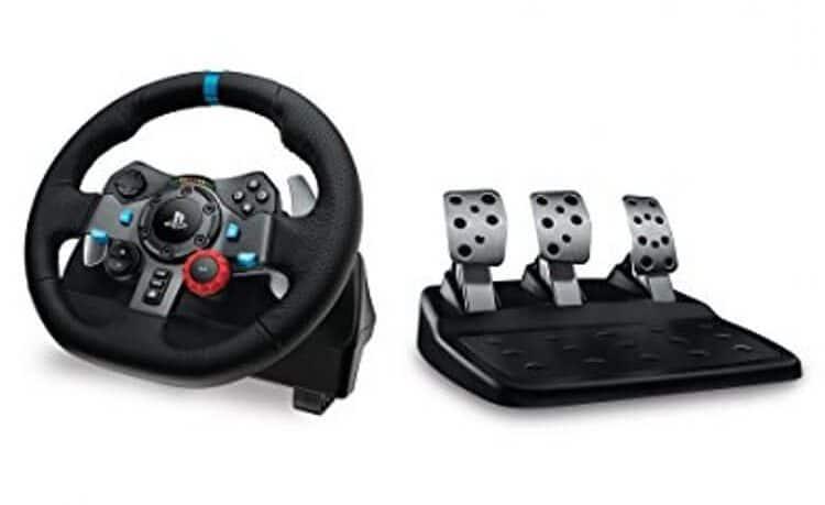 Logitech G29 Driving Force Volante da Corsa per PS4 PS3 PC, Nero