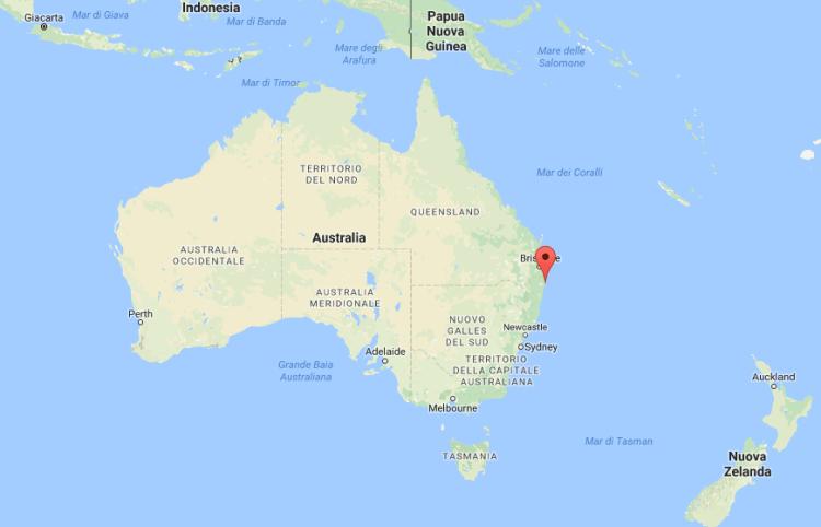 Mappa di Ballina Byron Bay Australia