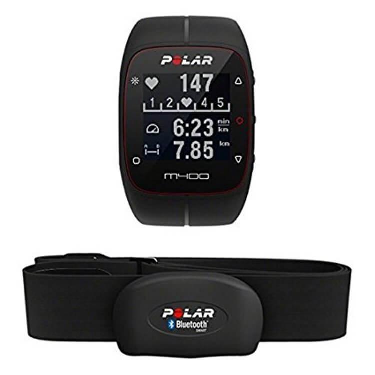 Polar M400 Orologio GPS con Fascia Cardio Bluetooth Smart per Corsa Outdoor e Indoor, Nero