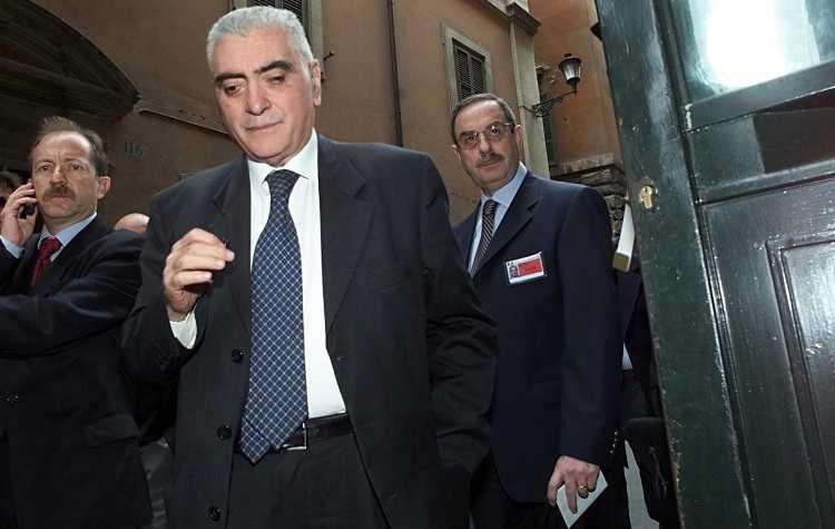 agostino cordova quando nel 1993 fu trasferito da Palmi a Napoli foto di mauro scrobogna per lapresse