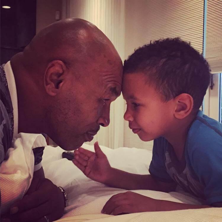 Mike Tyson e il figlio Morocco